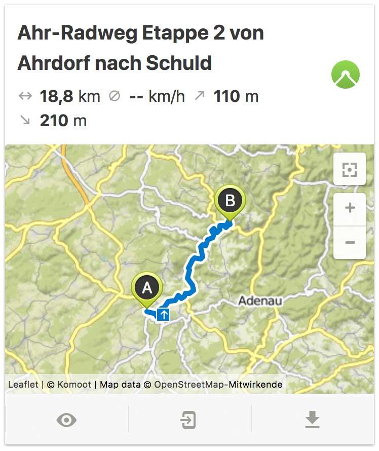 Ahr Radweg Etappe 2 von Ahrdorf bis Schuld