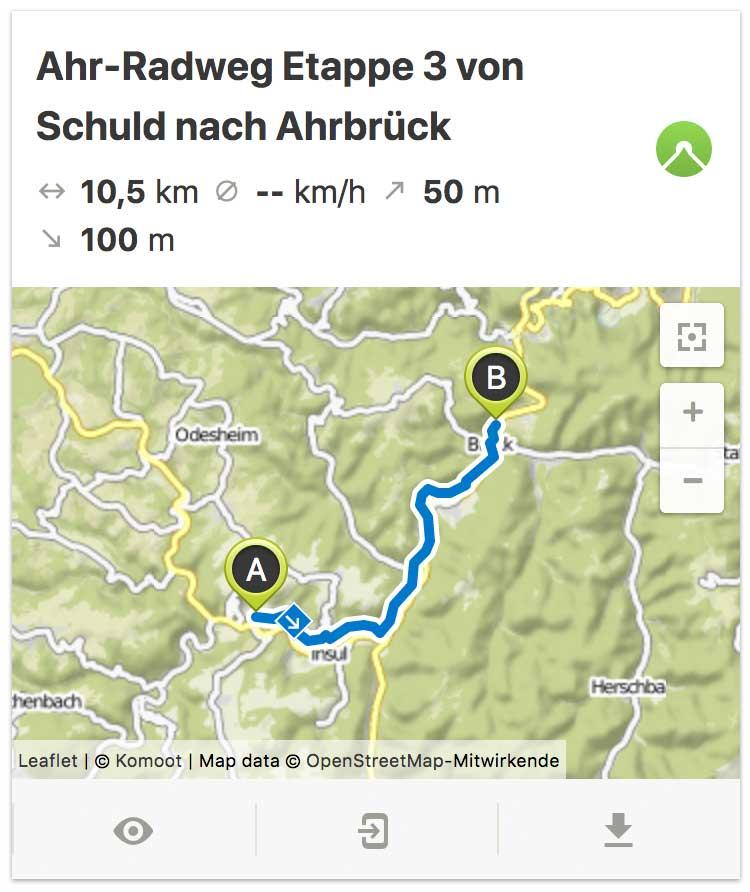 Ahr Radweg Etappe 3 von Schuld bis Ahrbrück