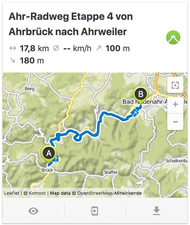 Ahr Radweg Etappe 4 von Ahrbrück bis Ahrweiler