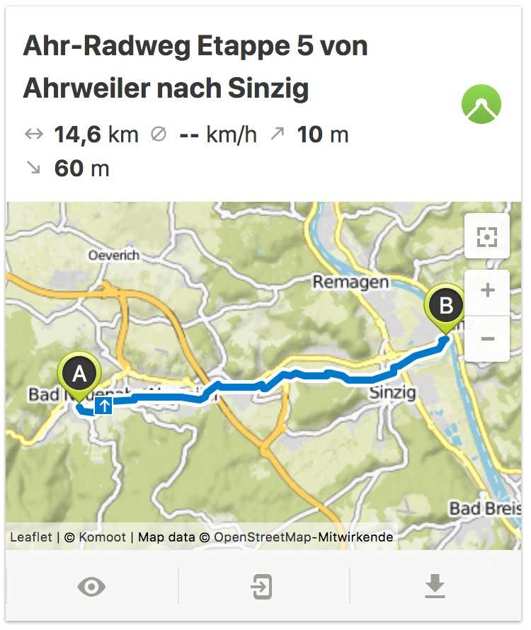 Ahr Radweg von Ahrweiler bis Sinzig