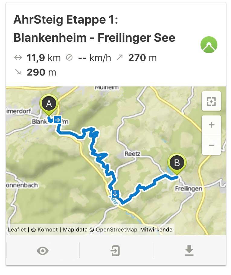 AhrSteig Etappe 1 von Blankenheim bis Freilinger See