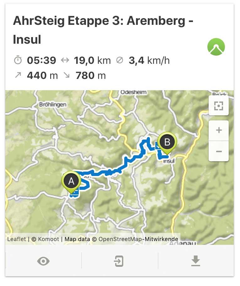 AhrSteig Etappe 3 von Aremberg bis Insul