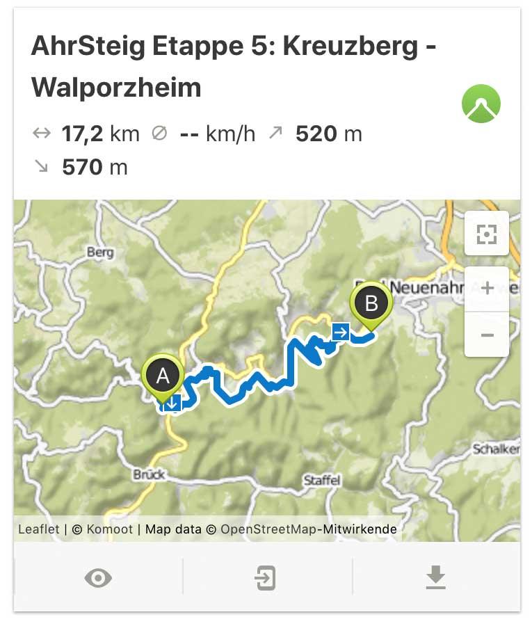 AhrSteig Etappe 5 von Kreuzberg bis Walporzheim