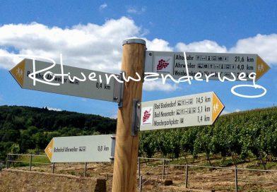 Rotweinwanderweg im Ahrtal an der Ahr