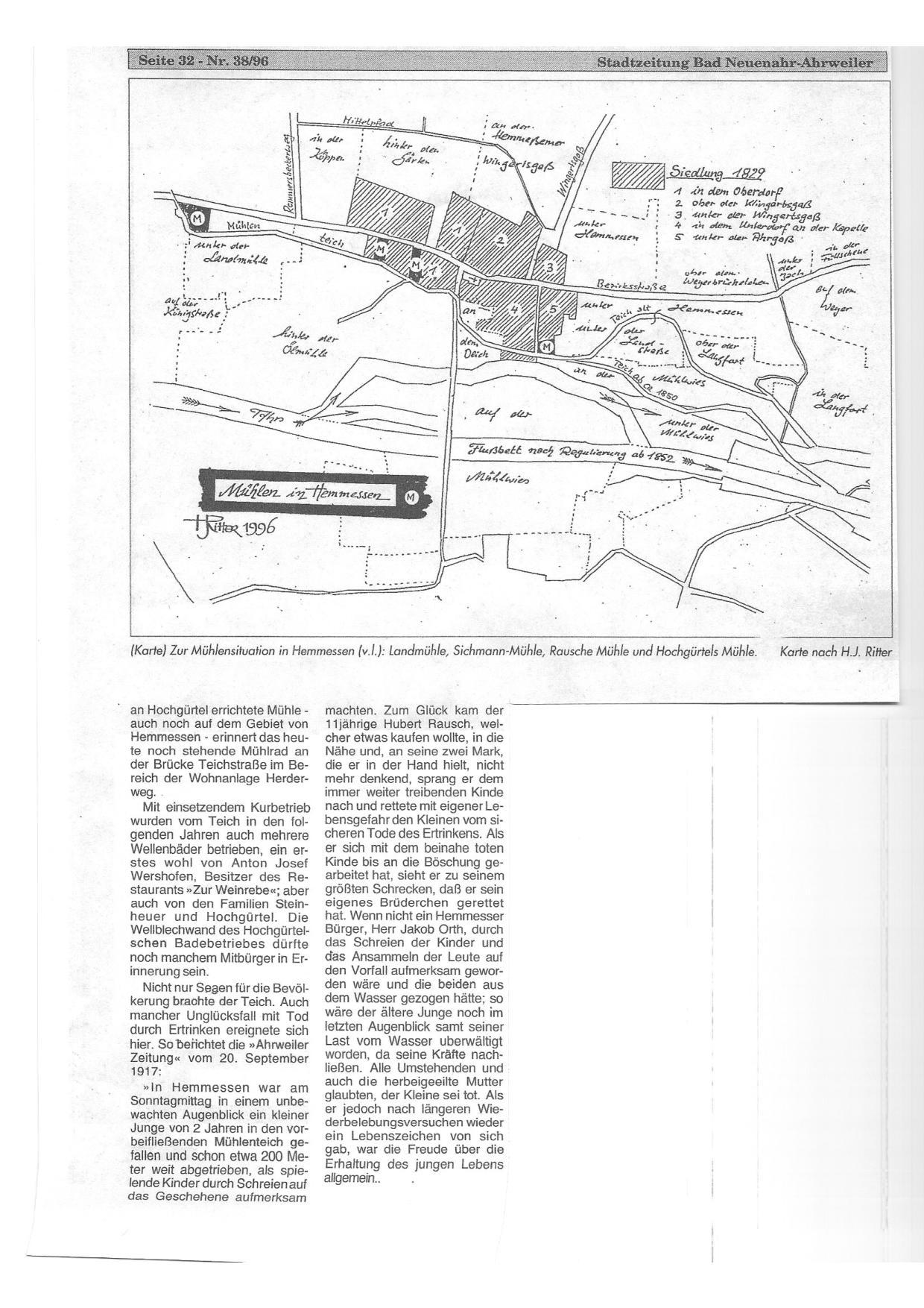 Im Anhang noch ein schöner Artikel der Stadtzeitung von 1996, freundlicherweise bereitgestellt von Werner Kathe.
