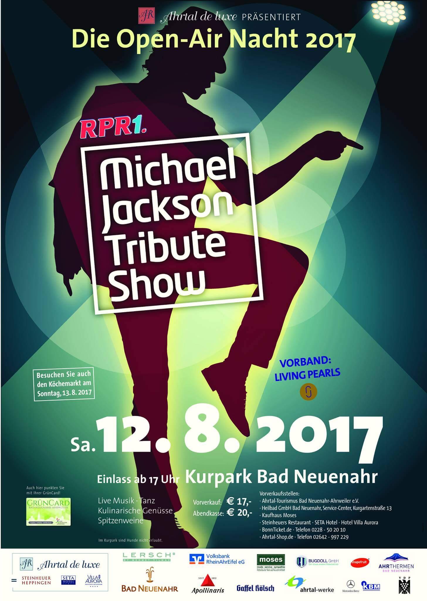 Ahrtal de Luxe 2017 mit der Michael Jackson Tribute Show