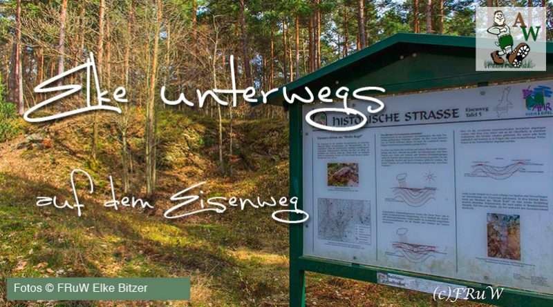 Wanderbloggerin Elke Bitzer unterwegs auf dem Eisenweg