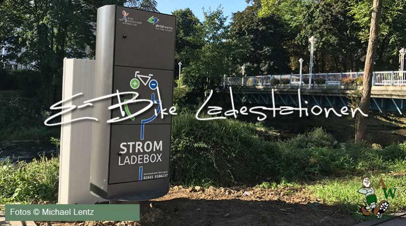 E-Bike Ladestationen in Bad Neuenahr-Ahrweiler, Stand Oktober 2017.