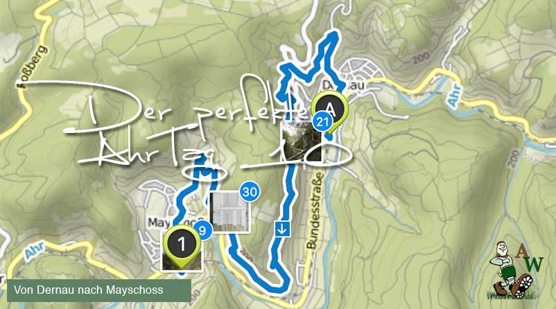 Der perfekte AhrTag 10 von Dernau nach Mayschoss @ Michael Lentz Ahrtalwandern 2019 Route